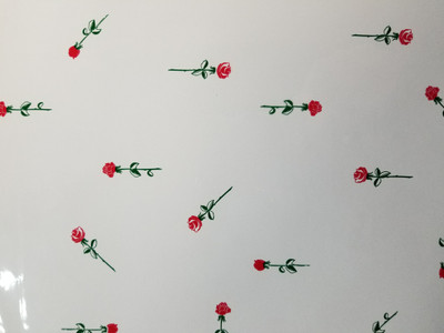 "Roses Printed Cellophane roll 40""x100'"