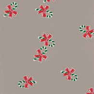 "Candy Cane Red Bow Printed Cellophane roll 40""x100'"