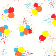 "Balloons Printed Cellophane roll 40""x100'"
