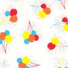 "Balloons Printed Cellophane roll 40""x100'"