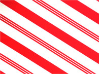 "Candy Stripe Printed Cellophane roll on clear 40""x100'"