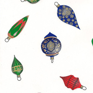 """Ornaments printed Cellophane roll 40""""x100'"""