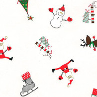 "Christmas Icons printed Cellophane roll 40""x100'"