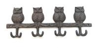 """Cast iron Owls hanger/hooks 11.5""""x0.75""""x4""""H (min 6)"""