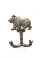 "Cast iron bear dual hook 4""x2""x6""H (min 6)"