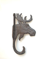 "Cast iron Moose Head hanger 5""x2""x9""H (min 4)"