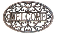 "Cast iron Decorative welcome plaque 14""x0.3""x8.5""H (min 2)"