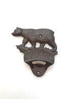 "Cast iron Bear bottle opener 4""x1.25""x4""H (min 8)"