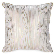 """White suedette cushion with gold trim 17""""x17"""""""
