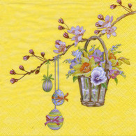 "Lunch Napkins - Easter Basket 6.5""x6.5"""