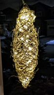"Small Elliptical shaped vine hanging decor - 6""x20""H"