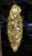 """Large Elliptical shaped Natural vine hanging decor - 10""""x28""""H"""