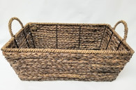 "Medium in S/3 Rectangular Hyacinth & Seagrass baskets M: 15""x10""x5.5""H"