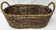 "Largest in S/3 Oval Hyacinth & Seagrass baskets L: 17.75""x12.5""x6.25""H"