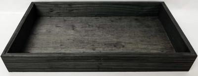 "Medium in S/3 Black Rectangular wood trays M: 15""x10""x1.5"""