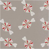 "Peppermint candy on clear cello Cellophane roll 40""x100'"
