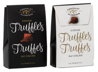 Chocolat Classique cocoa truffles (2 pc) - Black/White 17 gr.  36/cs