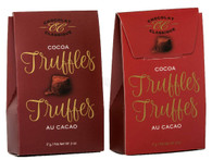 Chocolat Classique cocoa truffles (2 pc) - Red/Burgundy 17 gr.  36/cs