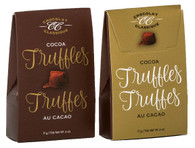 Chocolat Classique cocoa truffles (2 pc) - Brown/Gold 17 gr.  36/cs