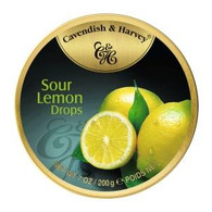 Cavendish & Harvey SOUR LEMON Drops 200 gr., 9/cs