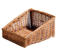 "Willow display basket 14""x12""x3""H1x8""H2"