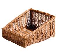 """Willow display basket 14""""x12""""x3""""H1x8""""H2"""