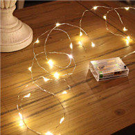 "50 warm white LED light garland , approx 5 m (195"") long"