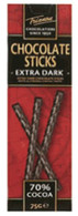 Trianon extra dark chocolate sticks 75 gr., 12/cs