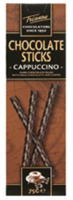 Trianon chocolate sticks - Cappuccino 75 gr., 12/cs