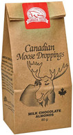 Canada True Canadian Moose Droppings - Milk Chocolate Almonds 80 gr., 24/cs