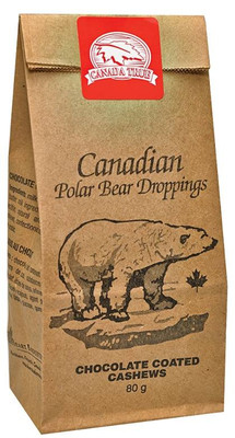 Canada True Polar Bear Droppings - Chocolate Coated Cashews 80 gr., 24/cs