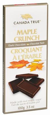 Canada True Maple Crunch Dark Chocolate Bar 100 gr., 12/cs