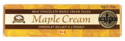 Canada True Milk Chocolate Bar - Maple Cream Filled 50 gr., 48/cs