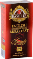 Basilur Exclusive premium Quality Ceylon Black Tea - English Breakfast (25 bags/box) - 24/cs