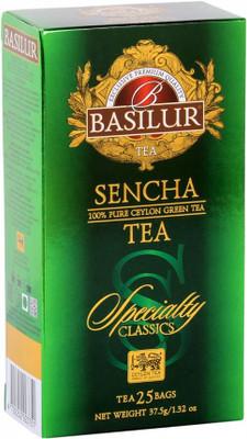 Basilur Exclusive premium Quality Ceylon Green Tea - Sencha Tea (25 bags/box) 24/cs