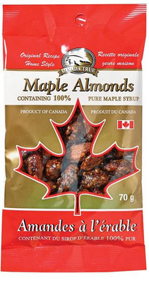 Canada True Maple Almonds 70 gr., 48/cs