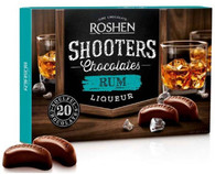 Roshen Shooters Liqueur Chocolates - Rum 150 gr., 10/cs