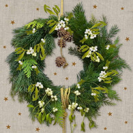 Lunch napkins - Pine Wreath
