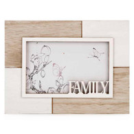 "White & natural 4x6 FAMILY photo frame (8.5""x6.5""H)"