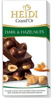 Heidi Grand 'Or dark chocolate bar with caramelized hazelnuts 100 gr., 12/cs