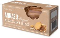 "Anna's Almond Thins 150 gr., 12/cs Apex Elegance is proud to introduce a new brand of ginger cookies, "" Anna's Thins "" originally made by Anna Karlsson, Swedish housewife in the 1920's, baked ginger cookies at Christmas from a recipe handed down from her mother. Her cookies became so popular that Anna and her sister started baking them year-round. In 1929 they opened a small bakery in Stockholm, Sweden. Ever since, Anna's has been a magical journey supplying cookies to Europe and North America for nearly a century."