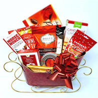 Christmas gourmet gift basket KIT CTF672SL includes 11 Items, Shredded paper, Cellophane bags and Pull bows Do it yourself Gift Basket! (Minimum 12)