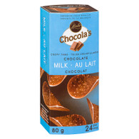 Chocola's crispy milk Belgian chocolate thins - MILK 80 gr., 8/cs