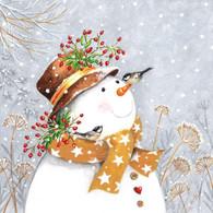 Lunch Napkins Happy Snowman