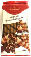 Imperial wafer rolls with cocoa cream 160 gr., 18/cs