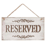 "RESERVED hanging wood plaques 9.5""x5""H"