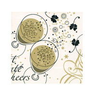 "Cocktail Napkins - Champagne Cheers 5""x5"""