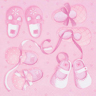 "Lunch Napkins - Baby (pink) 6.5""x6.5"""