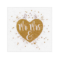 "Cocktail Napkins - Mr & Mrs 5""x5"""