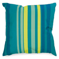 "Blue/Yellow striped outdoor Cushion 17""x17"""